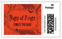 Spook large postage stamps