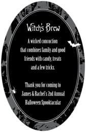 Spook oval text labels