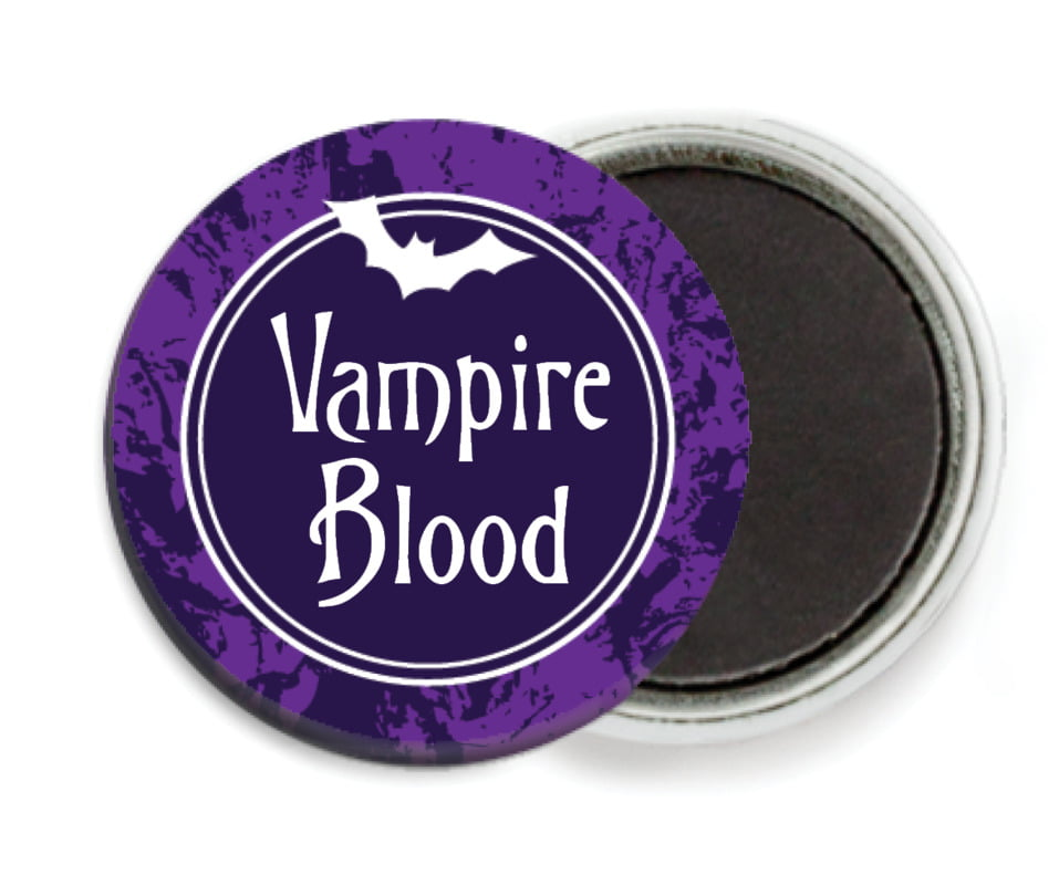 custom button magnets - purple - spook (set of 6)
