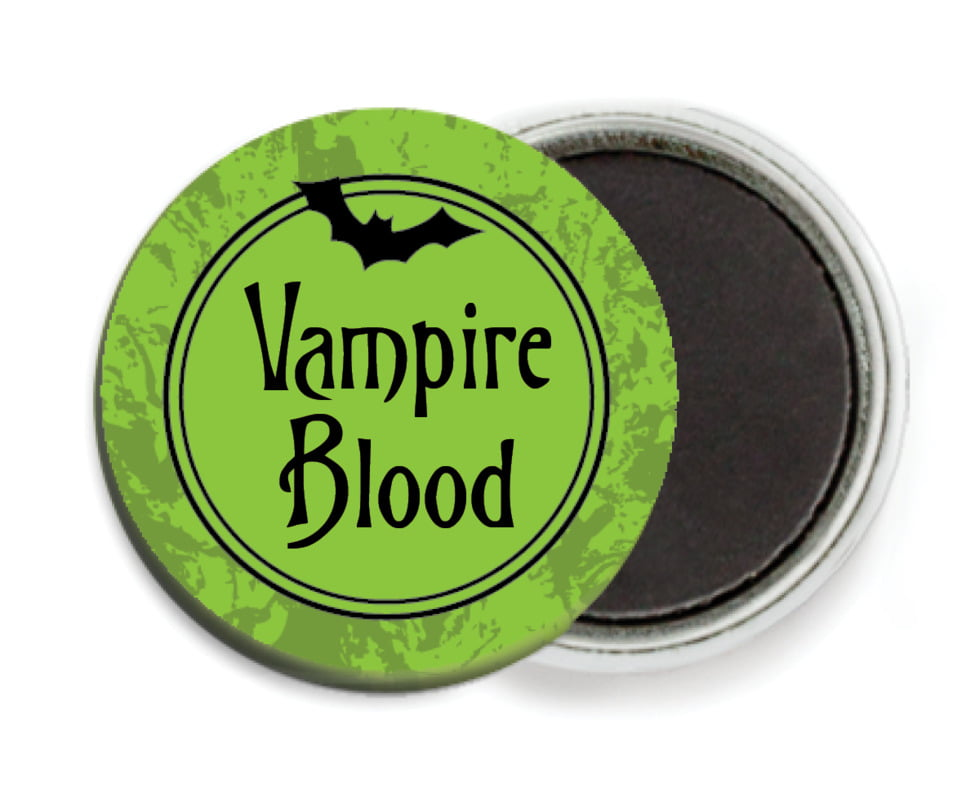 custom button magnets - lime - spook (set of 6)