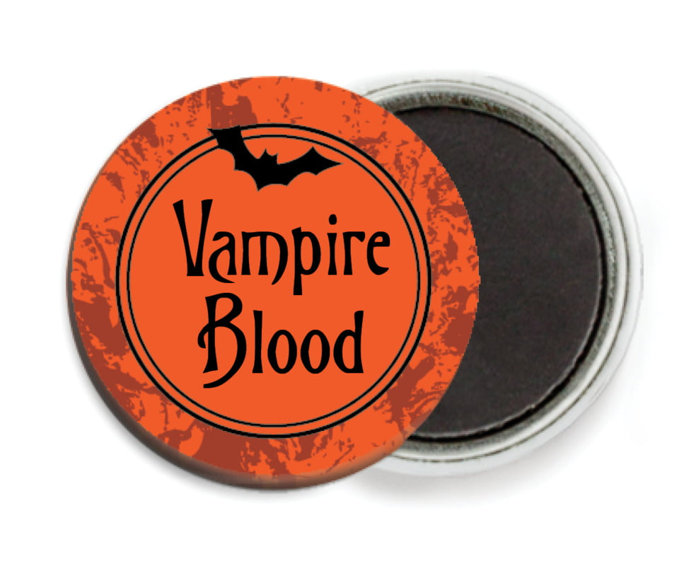 custom button magnets - orange - spook (set of 6)