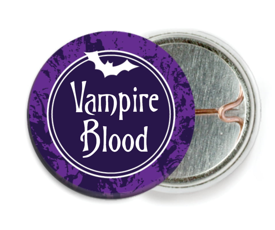 custom pin back buttons - purple - spook (set of 6)