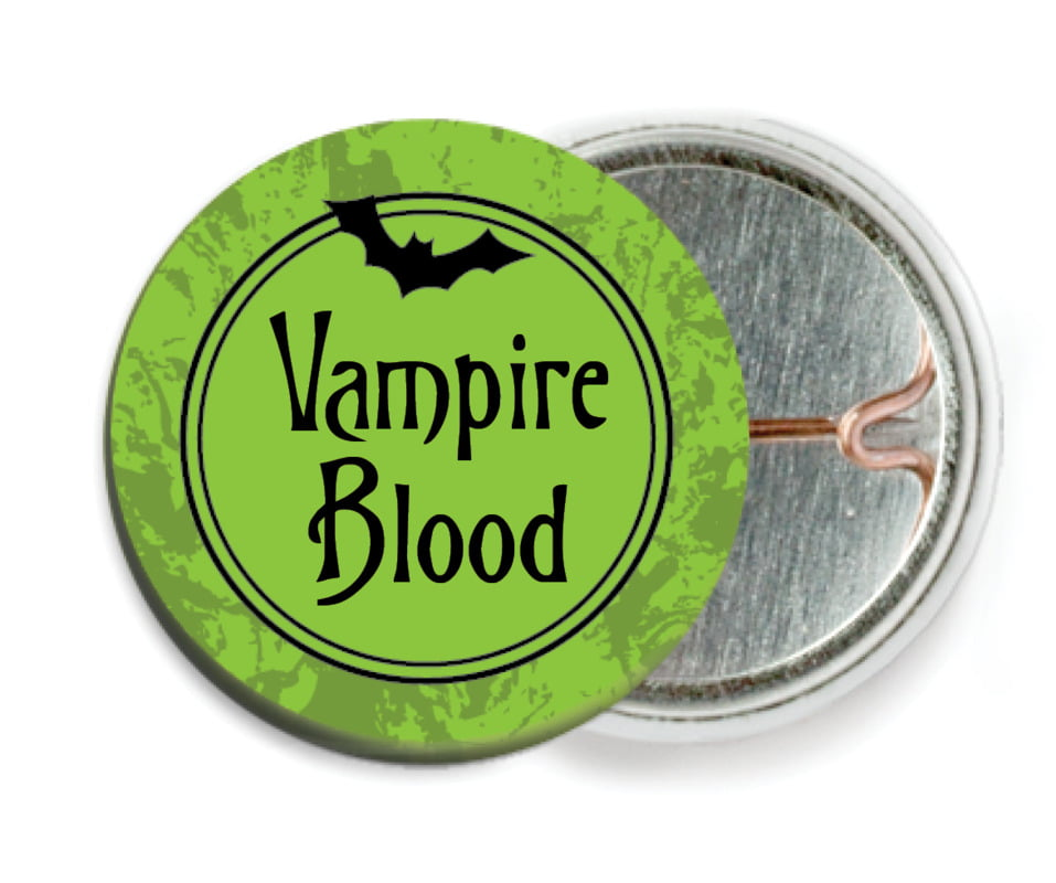 custom pin back buttons - lime - spook (set of 6)