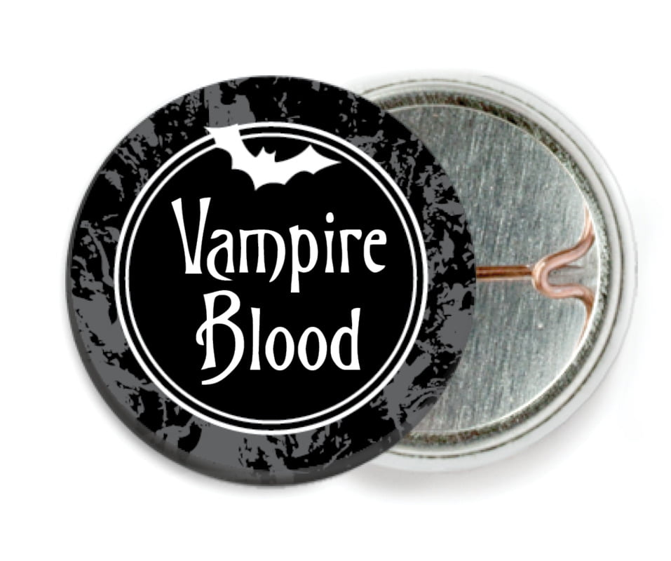 custom pin back buttons - smoke - spook (set of 6)
