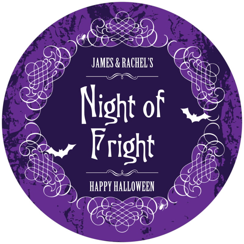 round holiday coasters - purple - spook (set of 12)