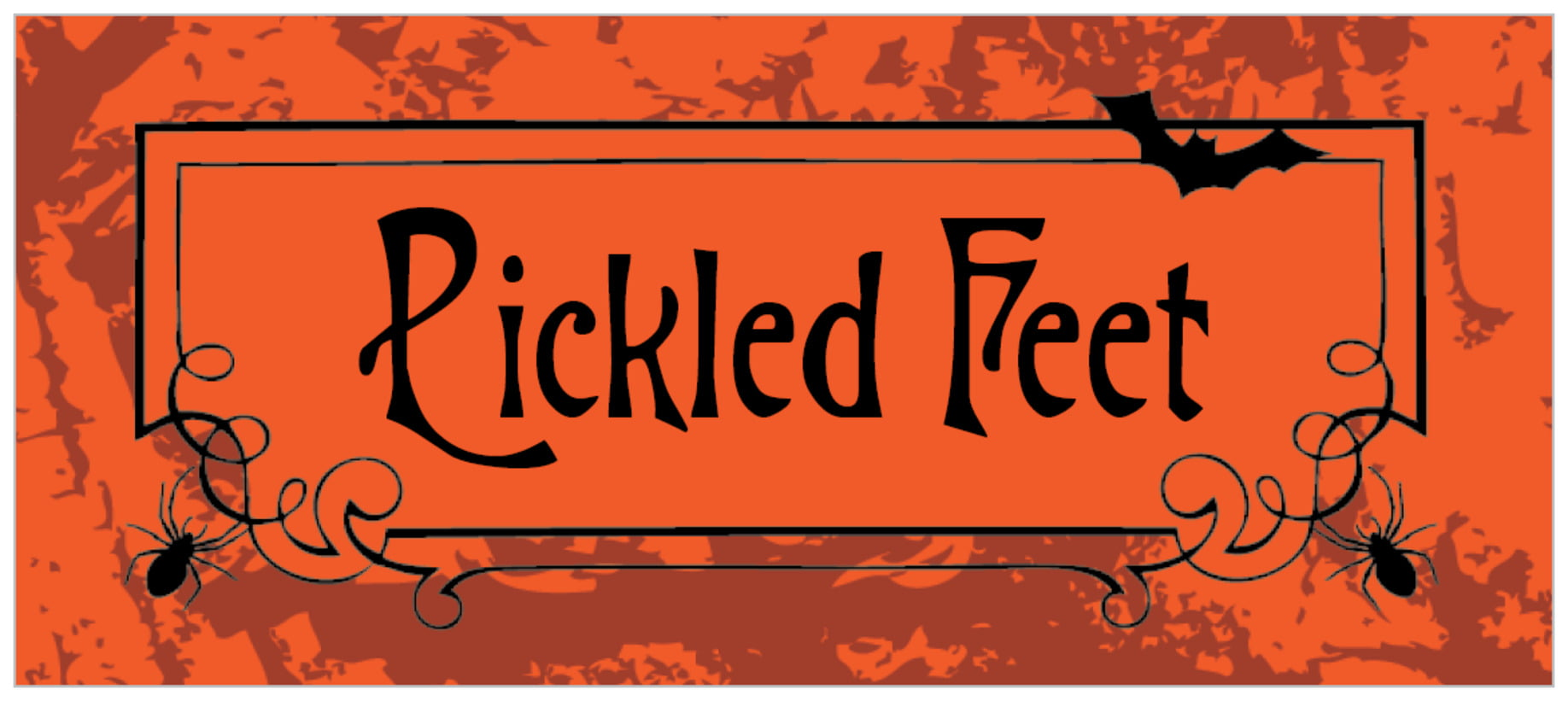 small rectangle food/craft labels - orange - spook (set of 24)