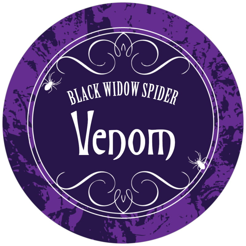circle food/craft labels - purple - spook (set of 12)