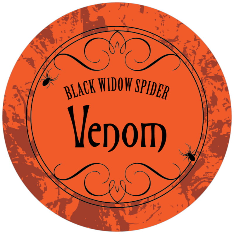 circle food/craft labels - orange - spook (set of 12)