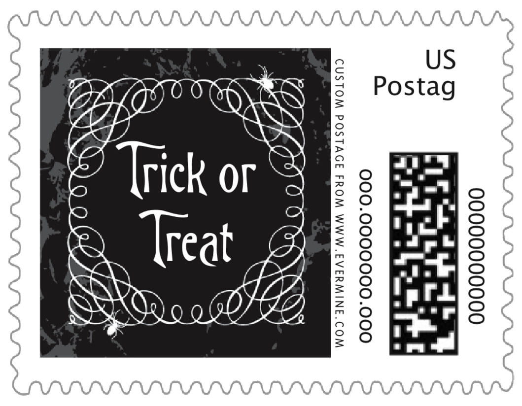 small custom postage stamps - smoke - spook (set of 20)