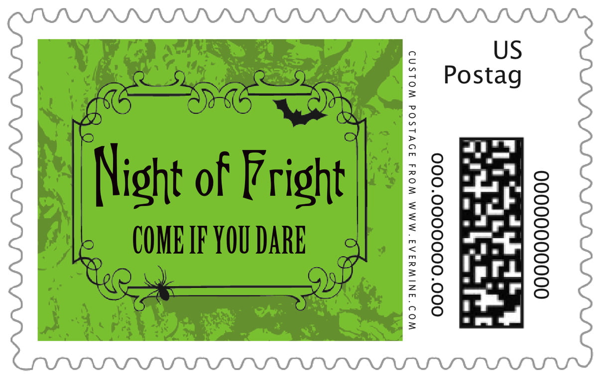 custom large postage stamps - lime - spook (set of 20)