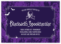 Spook Card In Purple