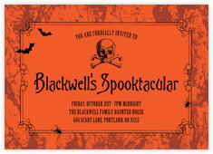 Spook halloween party invitations