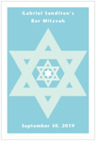 Star of David tall rectangle labels