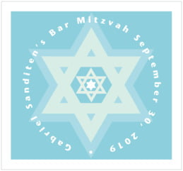 Star of David large rectangle labels