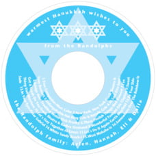 Star Of David Cd Label In Ice Blue