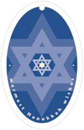 Star of David purim tags