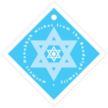 Star of David diamond hang tags