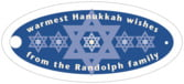 Star of David oval hang tags