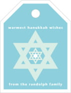 Star of David small luggage tags