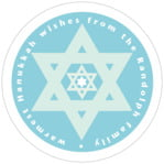Star of David circle labels