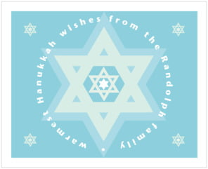 Star of David large wide labels