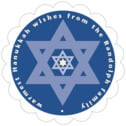 Star of David scallop labels