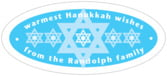 Star of David oval labels