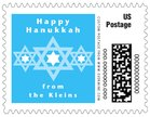 Star of David small postage stamps