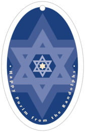 Star of David large oval hang tags
