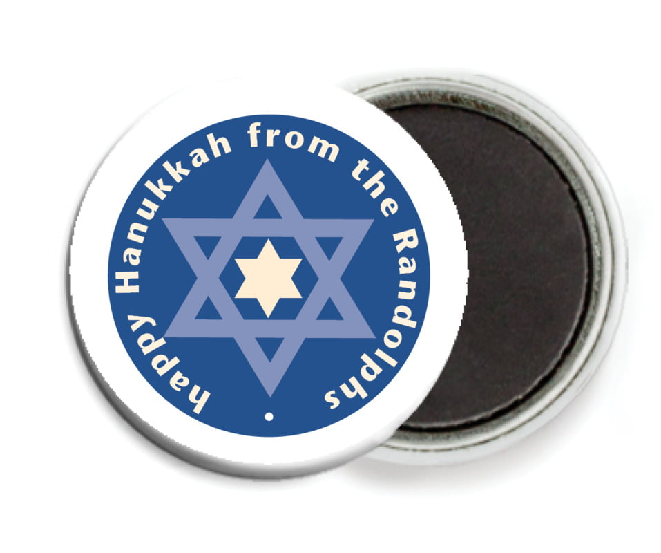 custom button magnets - deep blue - star of david (set of 6)