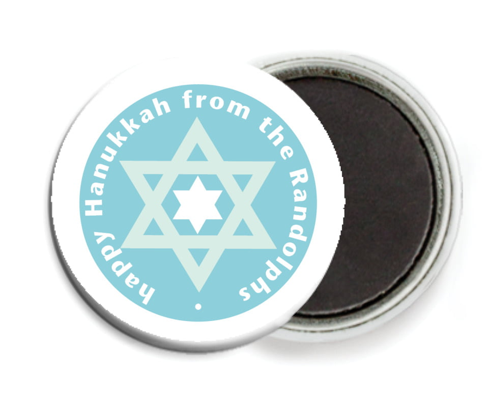 custom button magnets - sky - star of david (set of 6)