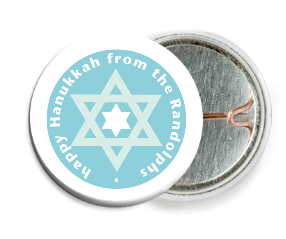 custom pin back buttons - sky - star of david (set of 6)
