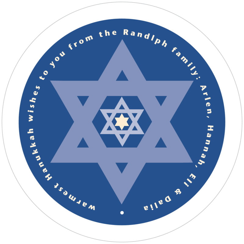 round holiday coasters - deep blue - star of david (set of 12)
