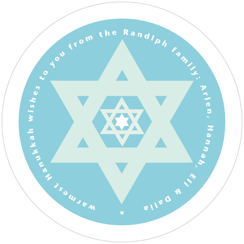 round holiday coasters - sky - star of david (set of 12)