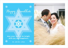 holiday cards - ice blue - star of david (set of 10)