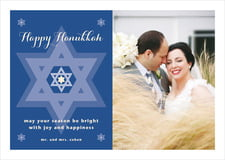 holiday cards - deep blue - star of david (set of 10)