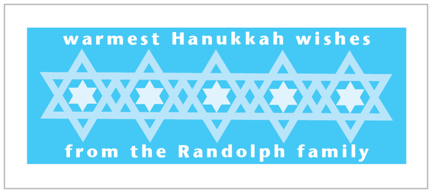 small rectangle food/craft labels - ice blue - star of david (set of 24)