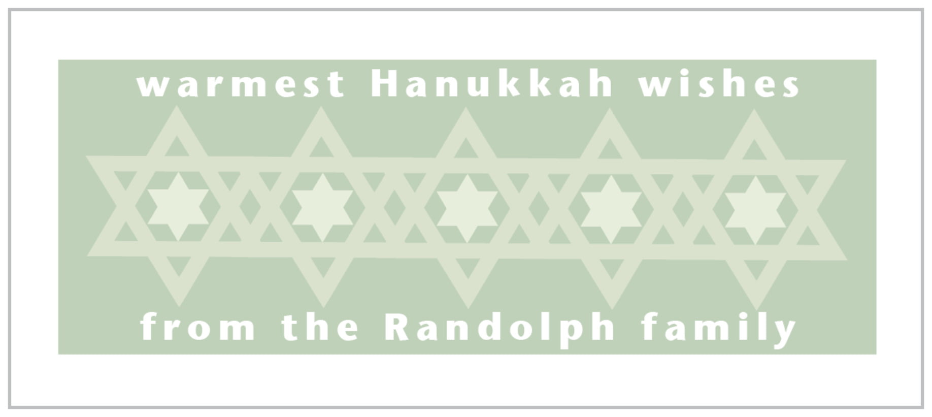 small rectangle food/craft labels - sage - star of david (set of 24)