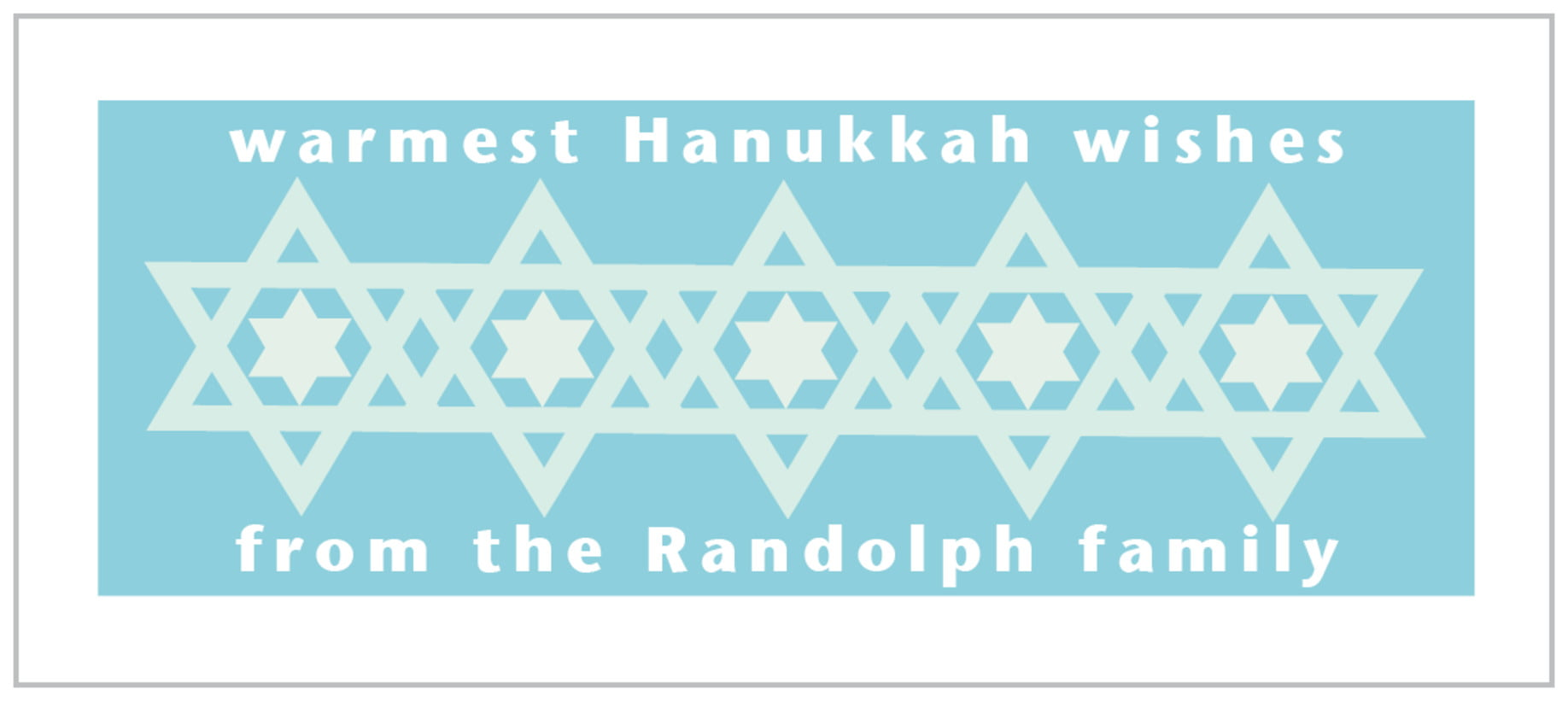 small rectangle food/craft labels - sky - star of david (set of 24)