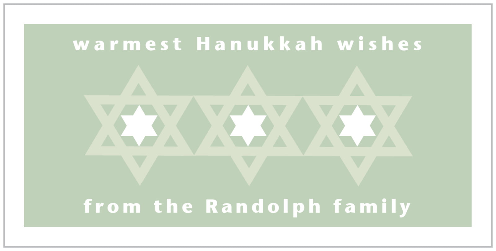 small rectangular food/craft labels - sage - star of david (set of 24)
