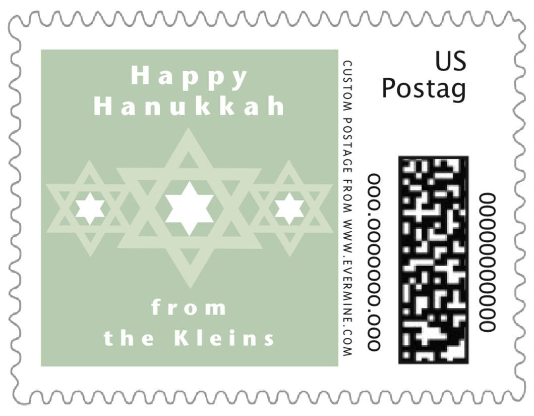 small custom postage stamps - sage - star of david (set of 20)