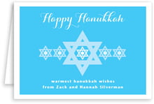 Star Of David Folding Card In Ice Blue