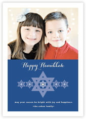 Star of David photo cards - vertical