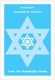 Star of David holiday labels