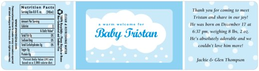 Baby Shower Water Bottle Labels, Custom Bottled Water
