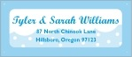 Snowswirls designer address labels