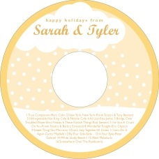 Snowswirls cd labels