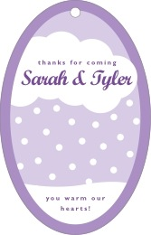Snowswirls large oval hang tags