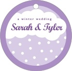 Snowswirls circle hang tags