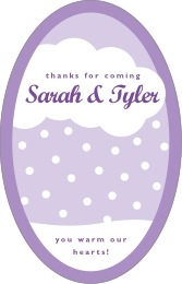 Snowswirls tall oval labels